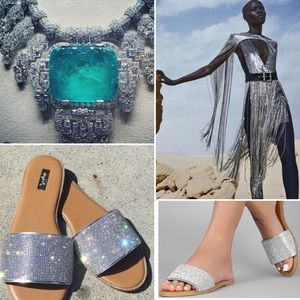 Shoes - Sparkly Sandal, adds a simple luxurious look!